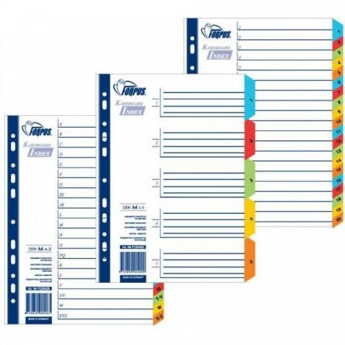 Разделители документов РР, А4, 1-20 цветные