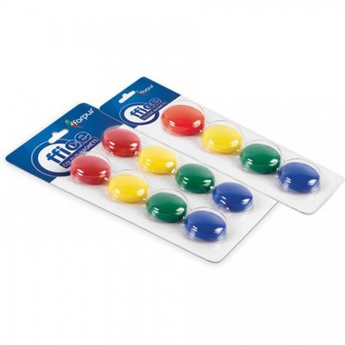 Набор магнитов d40 мм, 4шт, 4 цвета, ассорти