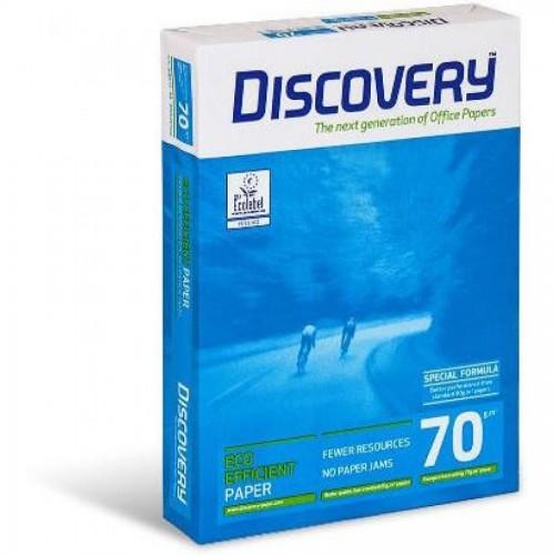 Бумага офисная Discovery A4, 70г/м2, 500л, белая